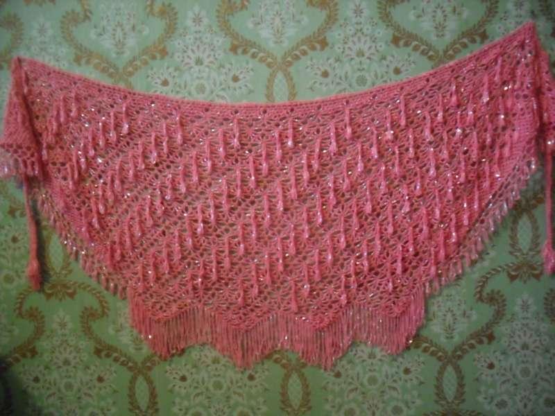 A015-Бисерные платки для танца